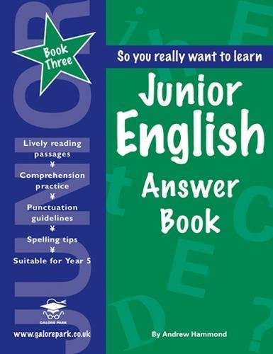 Junior English: Answer Book Book 3: Hammond, Andrew