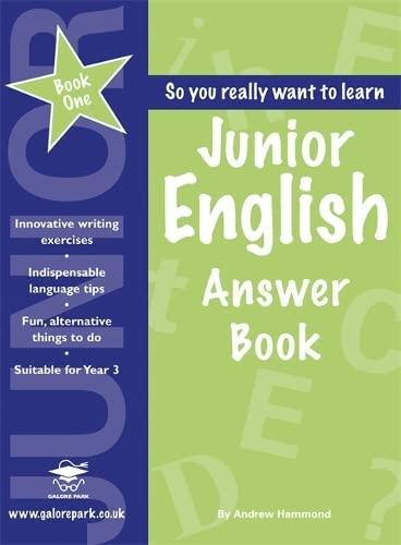 9781902984872: Junior English Book 1 Answer Book