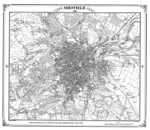 Sheffield 1849 Map (Heritage Cartography Victorian Town Map Series): Heritage Cartography