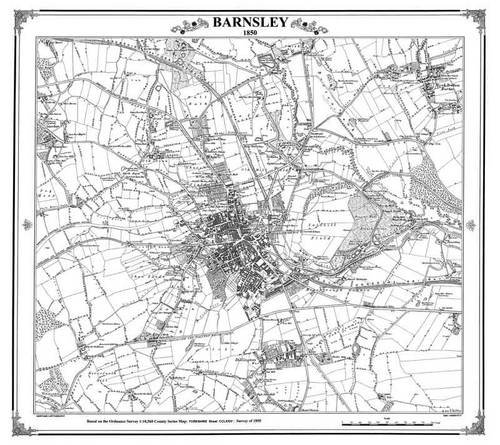 Barnsley 1855 Map (Heritage Cartography Victorian Town Map Series): Adams, Peter J.