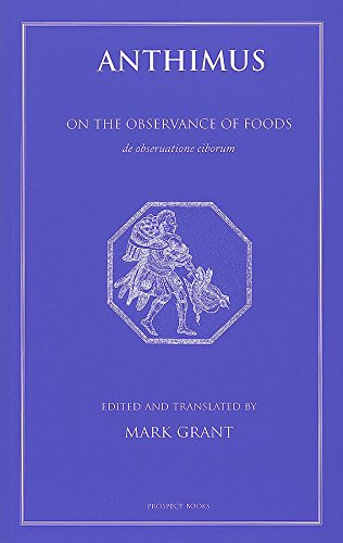 9781903018521: Anthimus: On the Observance of Foods