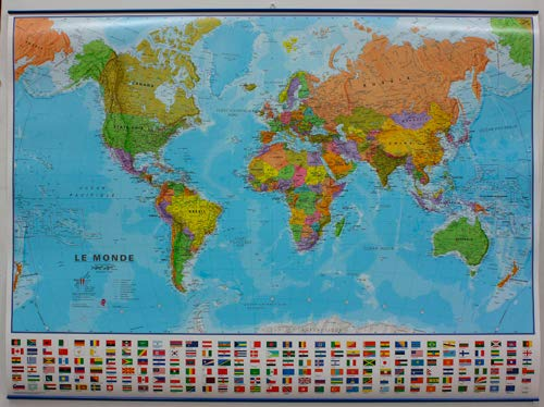 Carte Du Monde Plastifiee.9781903030707 Monde Politique Carte Plastifiee 1 30 000 000