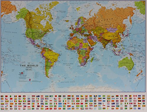 World political map mlps160mvl maps international ltd united view larger image gumiabroncs Gallery