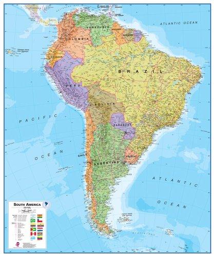 9781903030844: America South Political Map