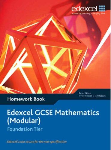 9781903133958: Edexcel GCSE Maths: Modular Foundation Homework Book (Edexcel GCSE Maths)