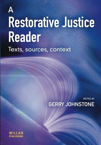 9781903240816: A Restorative Justice Reader