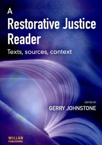 9781903240823: A Restorative Justice Reader