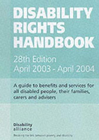 9781903335116: Disability Rights Handbook April 2003-April 2004