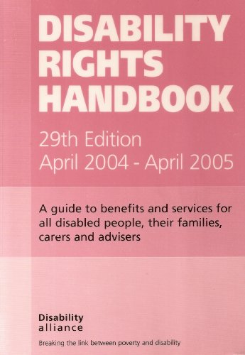 9781903335192: Disability Rights Handbook: A Guide to Benefits and Services for All Disabled People, Their Families, Carers and Advisers