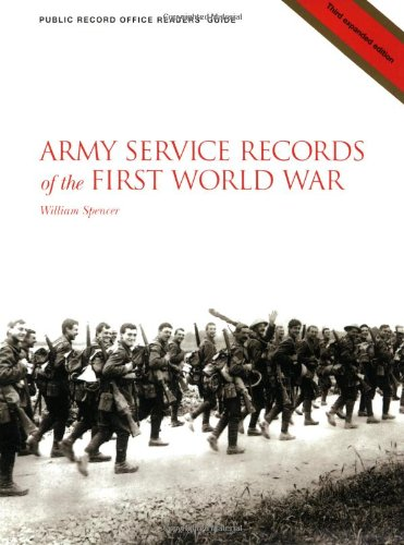 9781903365236: Army Service Records of the First World War (PRO Readers' Guide)