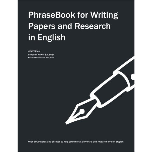 9781903384022: PhraseBook for Writing Papers and Research in English