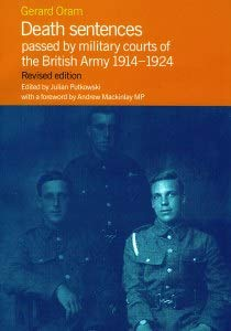9781903427262: Death Sentences Passed by Military Courts of the British Army 1914-1924
