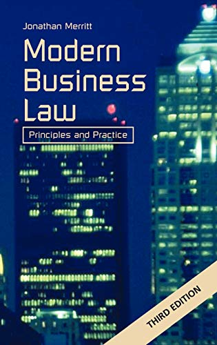 Modern Business Law: Principles and Practice: Merritt, J G