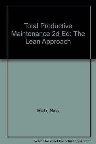 9781903500088: Total Productive Maintenance 2d Ed: The Lean Approach