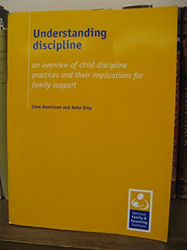 9781903615058: Understanding Discipline: An Overview of Child Discipline Practices and Their Implications for Family Support