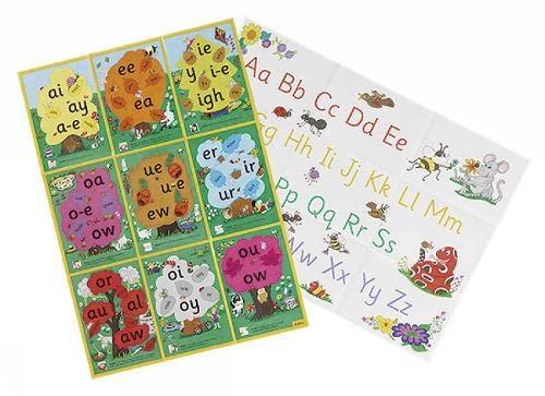 9781903619124: Jolly Phonics Alternative Spelling & Alphabet Posters: in Precursive Letters (British English edition)