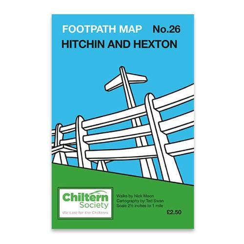 Hitchin and Hexton (Chiltern Society Footpath Maps): Chiltern Society; Moon, Nick