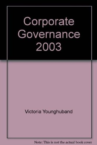 CORPORATE GOVERNANCE 2003 (Paperback): VICTORIA YOUNGHUBAND
