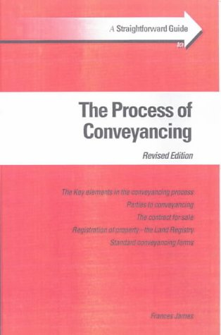 9781903909263: A Straightforward Guide to the Process of Conveyancing (Straightforward Guides)