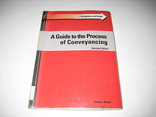 9781903909478: A Straightforward Guide to the Process of Conveyancing