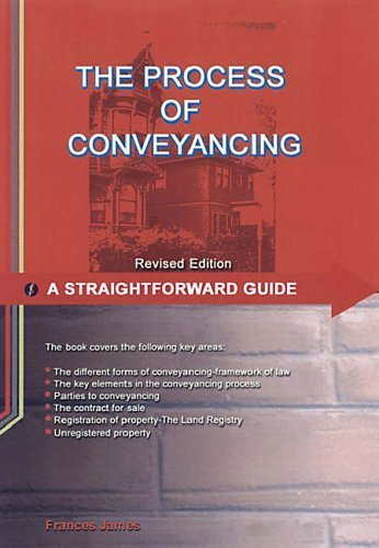 9781903909720: A Straightforward Guide to the Process of Conveyancing (Straightforward Guides)