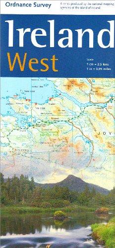 Ireland West Map 1:250 000 OS (Holiday Map): Ordnance Survey Ireland