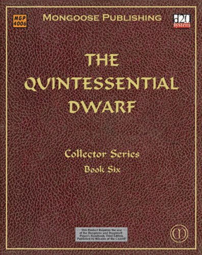 9781903980330: The Quintessential Dwarf (Dungeons & Dragons d20 3.0 Fantasy Roleplaying)