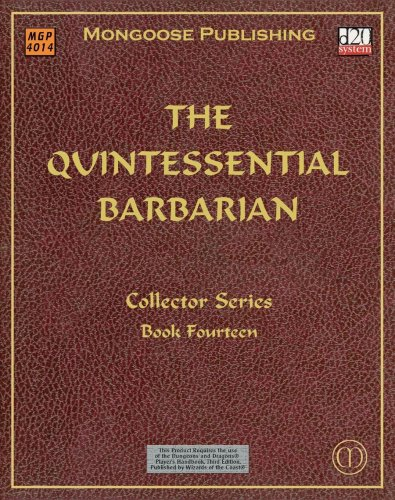 9781903980927: The Quintessential Barbarian (Dungeons & Dragons d20 3.0 Fantasy Roleplaying)