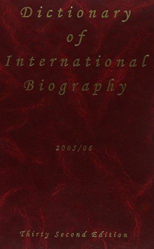 9781903986196: Dictionary of International Biography 2005/06 (Dictionary of International Biography)