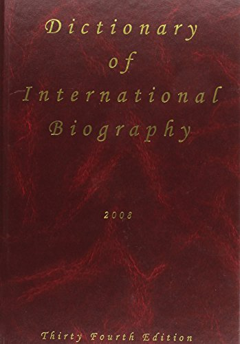 9781903986301: Dictionary of International Biography 34th Ed