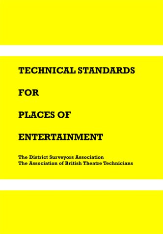 9781904031055: Technical Standards for Places of Entertainment