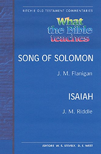 Song of Solomon / Isaiah (Ritchie Old: FLANIGAN, J.M. AND