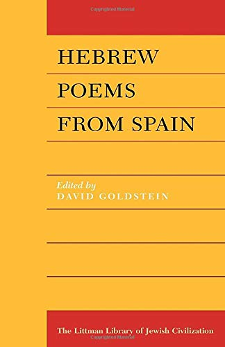 9781904113669: Hebrew Poems from Spain (Littman Library of Jewish Civilization)