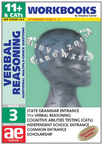 9781904257295: 11+ Verbal Reasoning: Workbook Bk. 3: Additional Multiple Choice Questions (Verbal Reasoning Workbooks for Children)