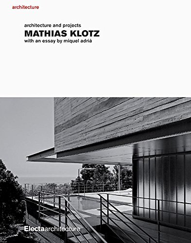 Mathias Klotz: Architecture and Projects: Miquel Adria