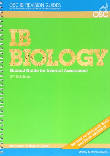 9781904534723: IB Biology Student Guide to the Internal Assessment (OSC IB Revision Guides for the International Baccalaureate Diploma)