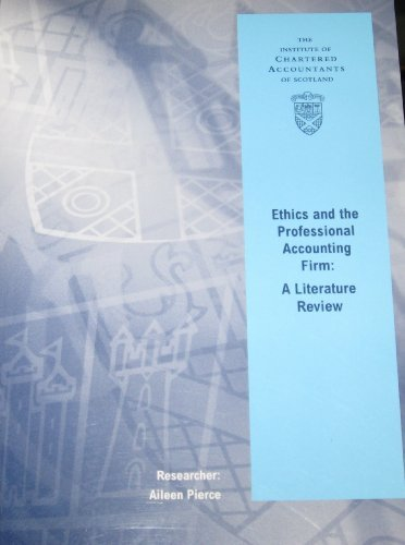 9781904574248: Ethics and the Professional Accounting Firm: A Literature Review