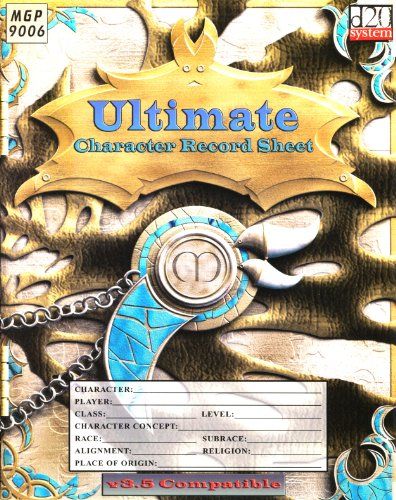 9781904577324: Ultimate Character Record Sheet