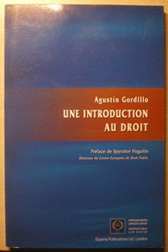 Une Introduction au Droit: Gordillo, A