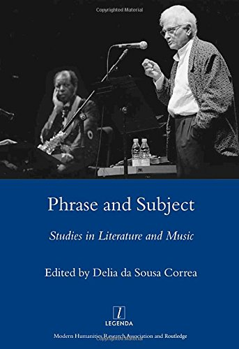 Phrase and Subject: Studies in Music and