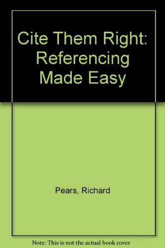 9781904794028: Cite Them Right: Referencing Made Easy