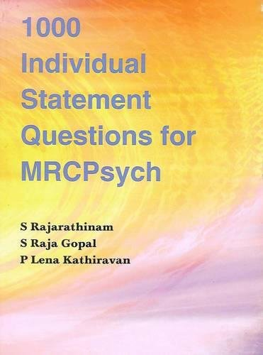 9781904798873: 1000 Individual Statement Questions for Mrcpsych
