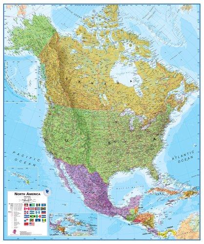 9781904892045: America north flat lam. map mi Scale: 1/7M ...