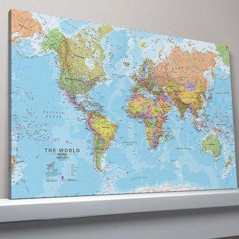 9781904892311: Medium Political World Map of the World - Canvas Kit