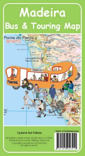 9781904946410: Madeira Bus and Touring Map 2009