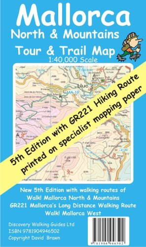 9781904946502: Mallorca North and Mountains Tour and Trail Map