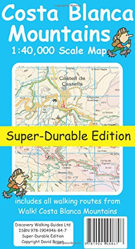 Costa Blanca Mountains Tour & Trail Super-durable Map: David Brawn