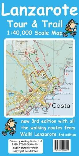 9781904946861: Lanzarote Tour & Trail Super-durable Map