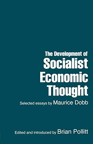 Development of Socialist Economic Thought: Lawrence & Wishart Ltd