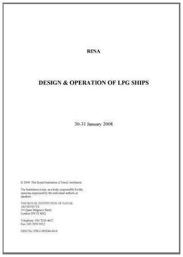 9781905040438: Design and Operation of LPG Ships